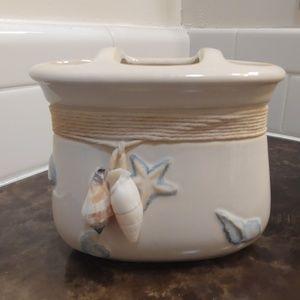 HomeGoods Bath - HomeGoods ceramic tissue box and toothbrush holder